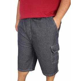 Bermuda Jeans Masculina Do 36 Ao 66 Plus Size