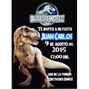 Jurassic World Invitaciones En Mercado Libre Mexico