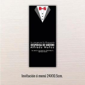 24 Pz - Invitaciones - Despedida De Solteros // 24x10.5cm.