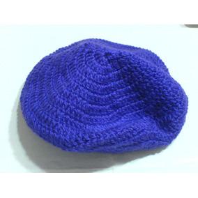 Boina-tejida Crochet-en Color Lila Radiante Grande Doble 2486f40556c