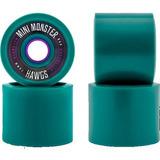 e9c98efe5dc Rodas Silicone Kit 4 Skate Longboard Mini Long Rolamento - Skate no ...