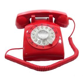 Telefone Antigo Red Inglês Vintage Retro Decoração