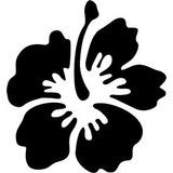 Stickers Flor Hawaiana Flower Hawaiana San Valentin Mde