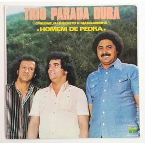 Lp Trio Parada Dura Homem De Pedra Sertanejo Disco De Vinil