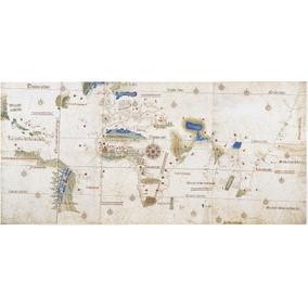 Mapa Mundi Ano 1502 Canvas Alemão Padrão Museológico