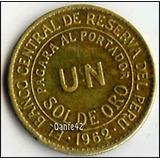 Dante42 Peru Moneda Antiguo Bronce Un Sol De Oro 1962