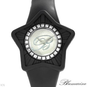 Reloj Blumarine Damas Con Estrellas, Poliuretano Y Acero