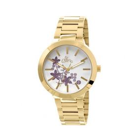 Relógio Feminino Dourado Allora Com Detalhes Al2036ci/4b