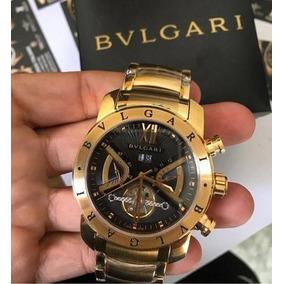 a8cd19e4053 Relogio Bvlgari Ergon Preto Aco - Relógios no Mercado Livre Brasil