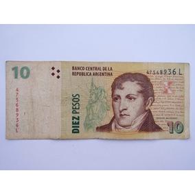 Cédula Nota De 10 Pesos Da Argentina Bc Numismática L014
