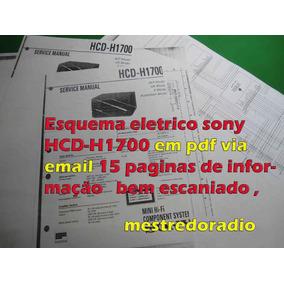 Esquema Sony Hcd-h1700 Hcdh1700 Hcdh-1700 Hcd1700 Em Pdf Via