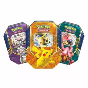 Combo Latas Pokemon Pikachu Ex + Magearna Ex +volcanion Ex