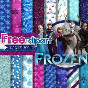 Kit Papel Scrapbook Digital - Frozen 2 - Envio Rapido
