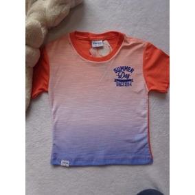 8f12ac1defe Camiseta Infantil Menino Laranja E Branco - Camiseta Menino