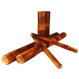 Kit Bambus Para Massagem Com Bambuterapia Com 6pçs