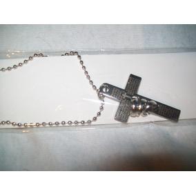 Gcg Collar Cruz Padre Nuestro Con 3 Aros