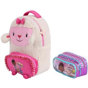 Mochila Estojo Doutora Brinquedo Costa Escolar Infa Disney M