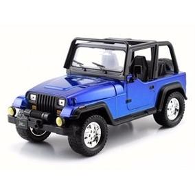 Miniatura De Jeep Wrangler Just Trucks 1992 Azul 1:24 Jada