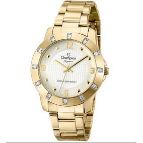 2aa04c4e2d0 Relógio Champion Passion Dourado Caixa Strass Cn29454h - Relógios De ...