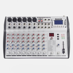 Consola De Audio Profesional Sps M1002ubt 10ch Usb Bluetooth