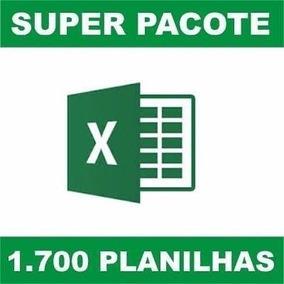 1700 Planilhas Excel Editáveis - Envio Grátis