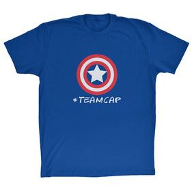 Camisa Guerra Civil #teamcap 100% Poliéster