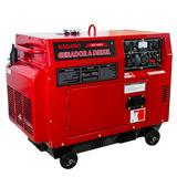 Gerador De Energia A Diesel Silenciado 6 Kva Monofásico