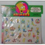 Los Simpsons Maxi Kalkers Transferibles Cromy 1992