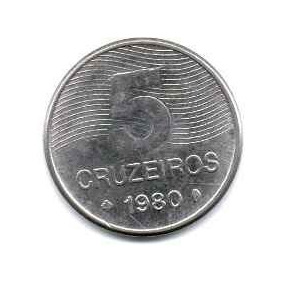 Moeda Escasa 5 Cruzeiros 80 ,81 83 84 2pç 15,00