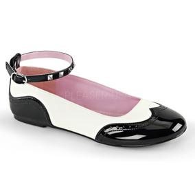 Precio. Publicidad. Zapatos Flats Mujer Demonia Star-22 Pin Up Bostonianos  Goth 35974bf3e73