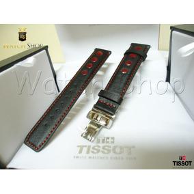 Pulseira De Couro Tissot T17 T067 19mm Vermelha - Original
