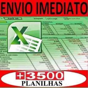 Tabelas Excel 3500 Planilhas Editáveis E-mail Promoção Ac