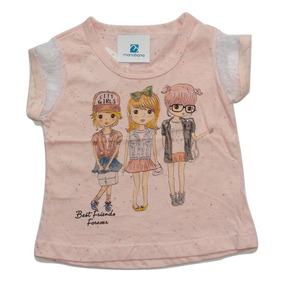 Camiseta Blusinha Bebe Enxoval Recem Nascido Menina Infantil