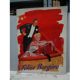 Programa De Teatro - Folies Bergere Paul Derval - Francês