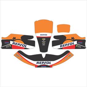 Adesivos Kart - Réplica Honda Repsol Motogp Clássica