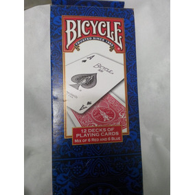 12 Baralho Bicycle Standard Azul E Vermelho (usados)promoção