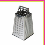 Rallador De Queso Profesional Acero Inox 4 Caras Reforzado