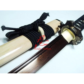Espada Samurai Autêntica Forjada Afiada Com Fio Aço Dobrado