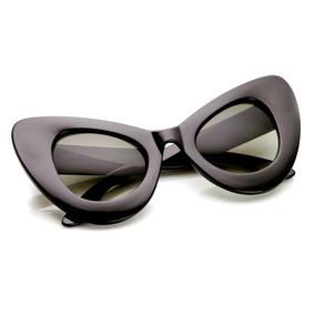 Óculos De Sol De Gatinho - Redondo - Hipster - Oversized fe1739e6f1