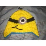 Gorro De Minions De Lana A Crochet Hecha A Mano 7806ea1d0cd