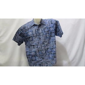 Camisa Imp Natural Issue Cotton G Azul Flores Tribais 399 36304c26a5c3f
