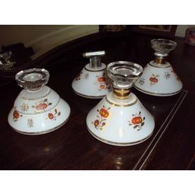 Set De Perfumeros Y Alhajero Antiguos Impecables Vidrio