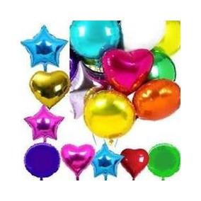 Mini Globos Metalizados Estrella-corazon De 11cm