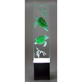Lámpara De Mesa Buró Escritorio Tortuga Cristal Decorativa