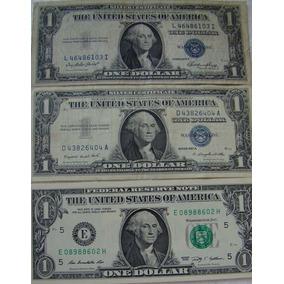 3 Dólares Americanos Ano 1935 Rara 1957 E 2013 Mbc E Fc