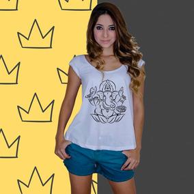 Ganesh Camisa Indiana - Camisetas e Blusas Regatas para Feminino no ... 665b3a59f15