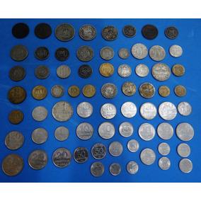 Coleção De 98 Moedas E 30 Cédulas Nacionais E Internacionais