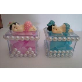 50 Lembrancinhas De Maternidade Em Caixinha De Acriliico