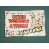 Postal Postcard Publicidad Cinerama Warner Seven Wonders