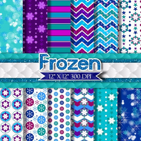 Kit Papel Scrapbook Digital - Frozen - Envio Rapido